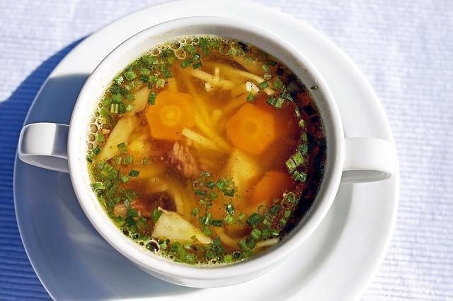 Gemüsesuppe in der Suppendiät
